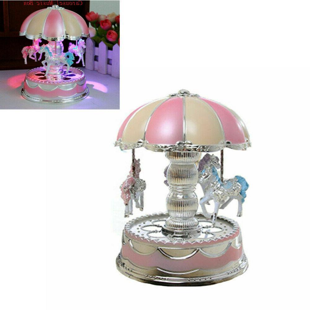 LED Music Box Girl Kids Birthday Gift Toy