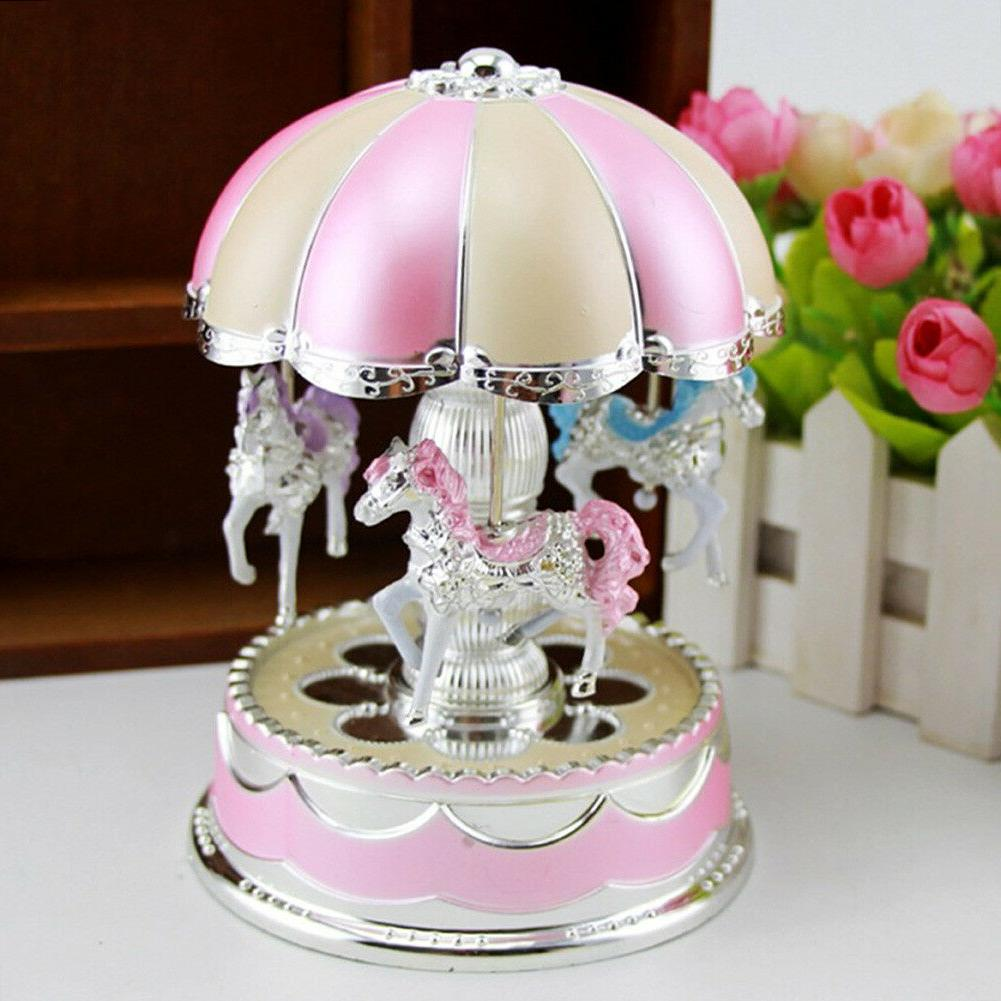 LED Horse Music Box Musical Toy Gifts