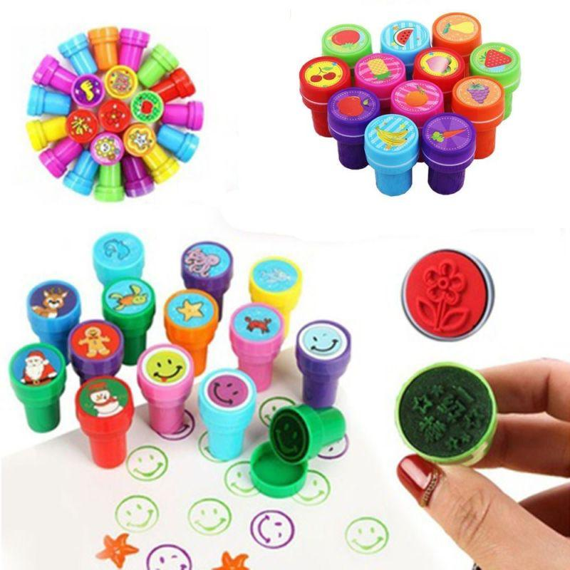 Lot 10PCS Self-ink Rubber Stamps Kids Party Event Supplies B