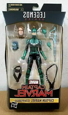 "HASBRO MARVEL LEGENDS 6"" inch CAPTAIN MARVEL STARFORCE EXCLU"