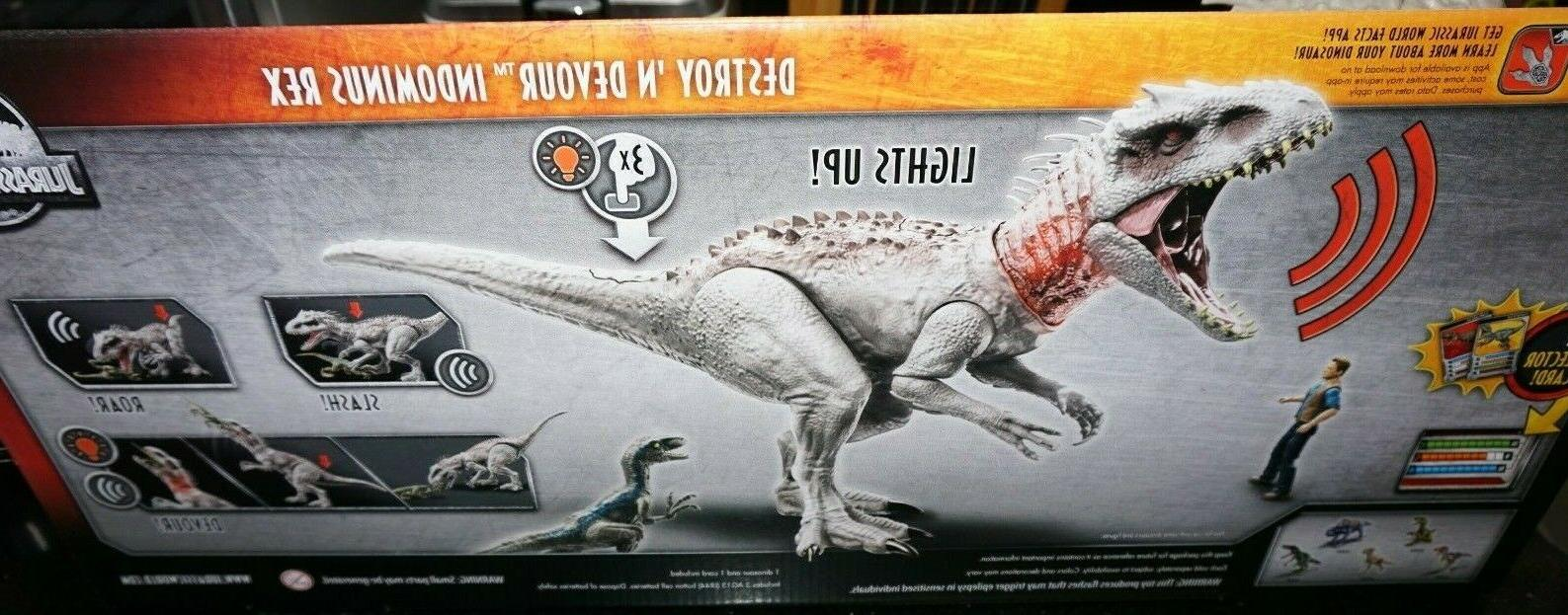 Mattel World Dino Rivals DESTROY 'N INDOMINUS IN STOCK