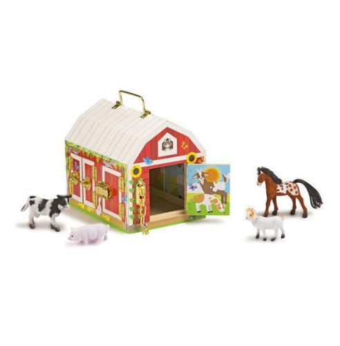 Melissa and & Doug Latches Barn Developmental Toy Farm Item