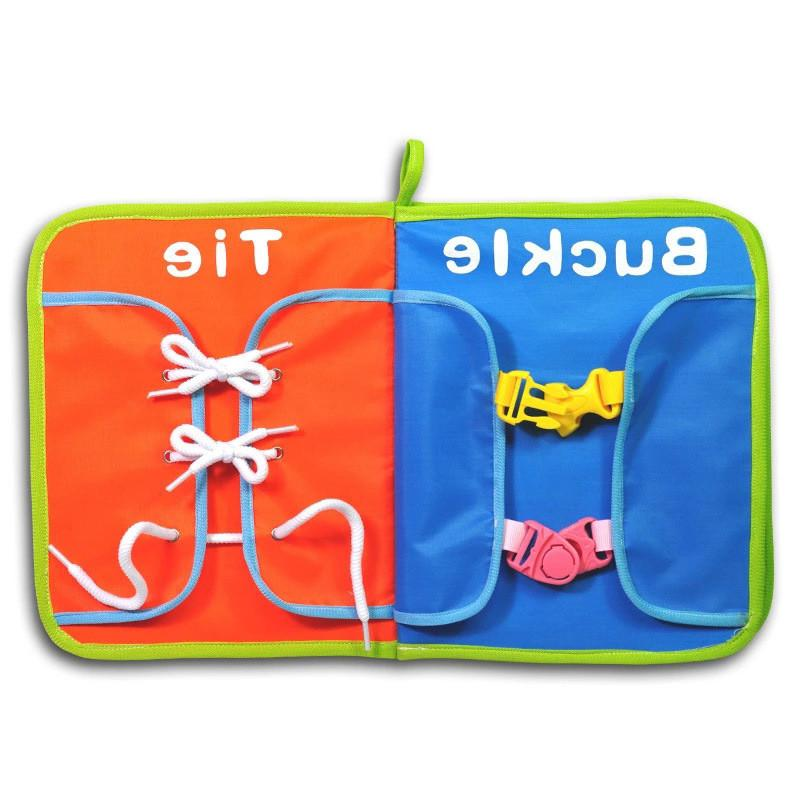 Montessori Baby Learning <font><b>Life</b></font> <font><b>Toys</b></font> Button, Tie