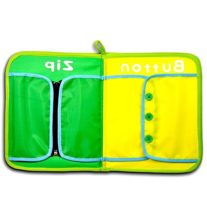 Montessori Educational Baby Early Learning <font><b>Toys</b></font> Zip, Button, Tie