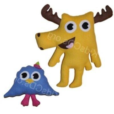 Moose A Moose + ZEE set Soft Plush Stuffed Toy clone Noggin