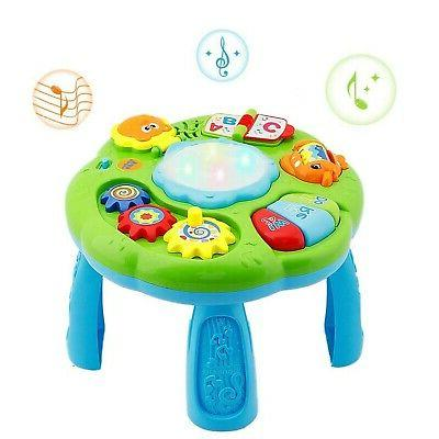 musical learning table baby toys zm16029 electronic