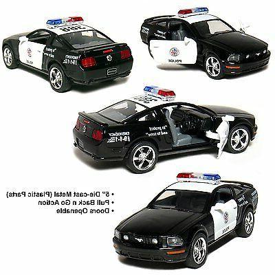 "New 5"" Kinsmart 2006 Ford Mustang GT Police Car Diecast Mode"