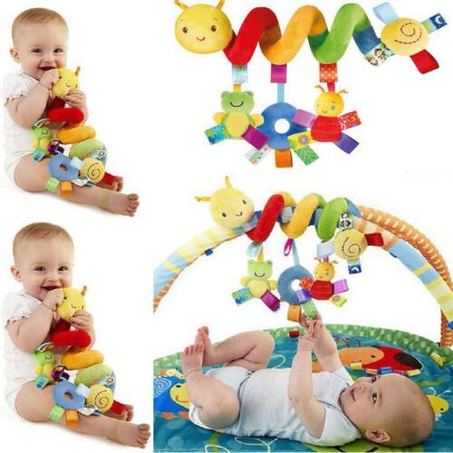 Newborn Baby Pram Bed Bells Soft Hanging Toys Animal Handbel