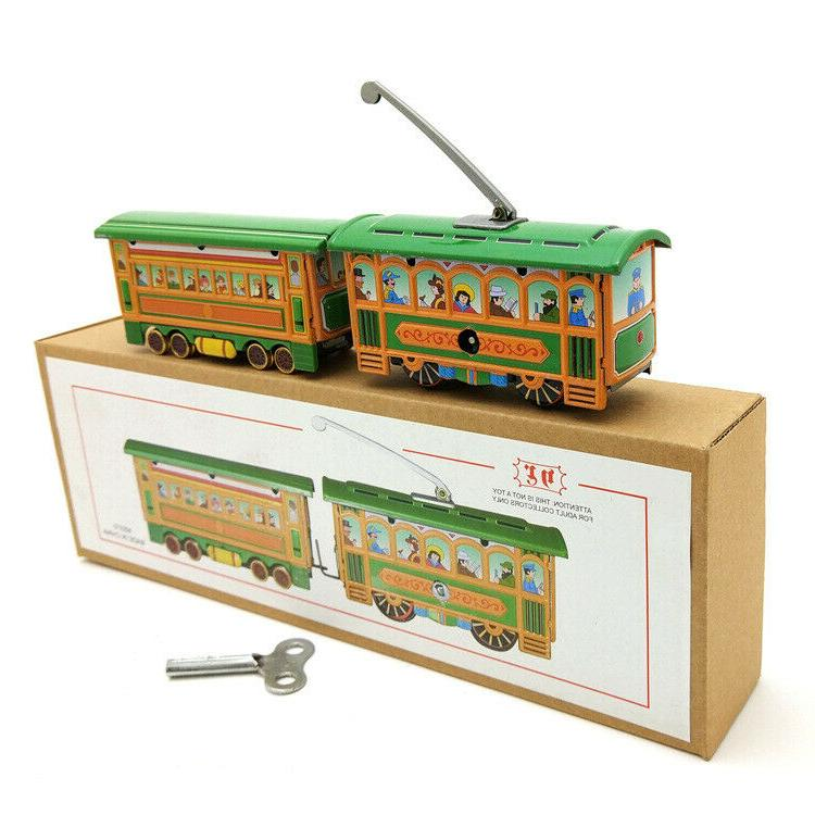 New Hand-Made Tin Tram Vintage Collection Decoration