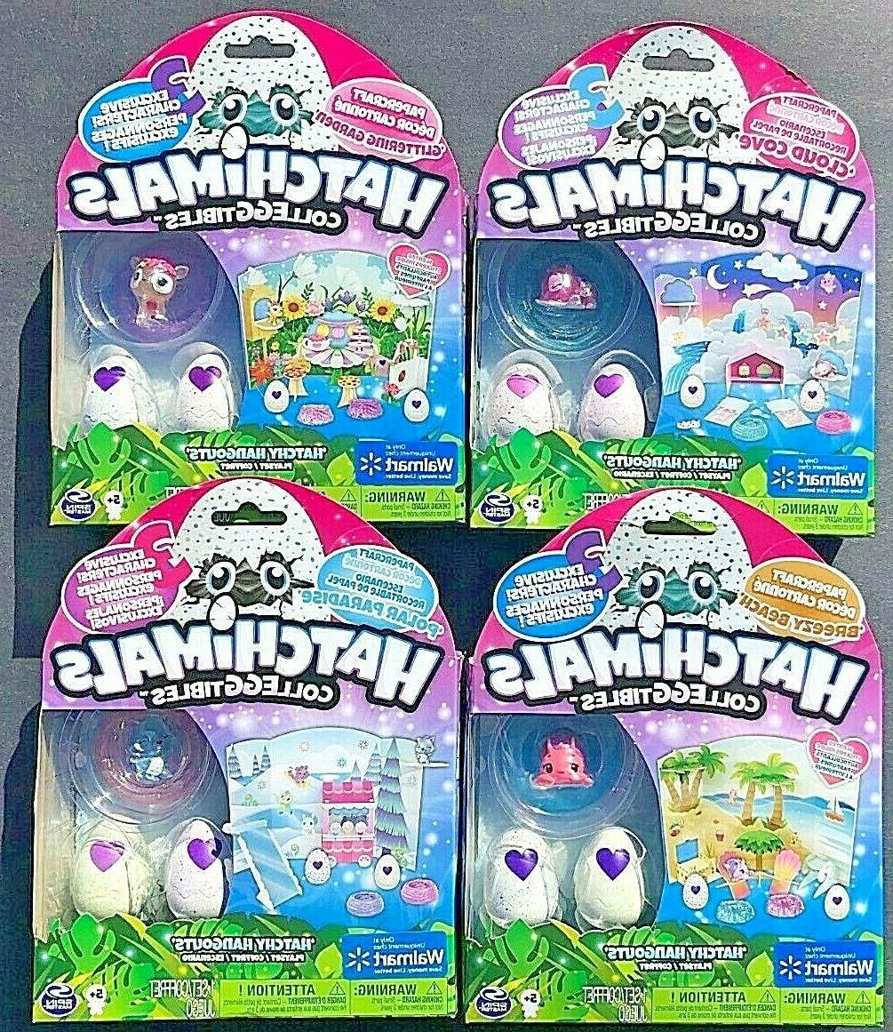 new hatchimals colleggtibles hatchy hangouts toy sets