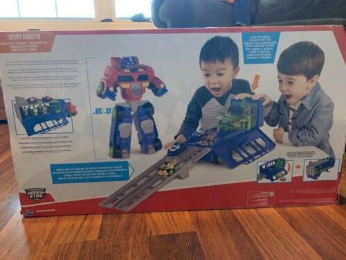 NEW Heroes Bots Transformers Race Trailer