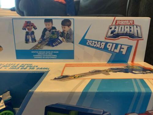 NEW Playskool Rescue Bots Transformers Race Track Trailer