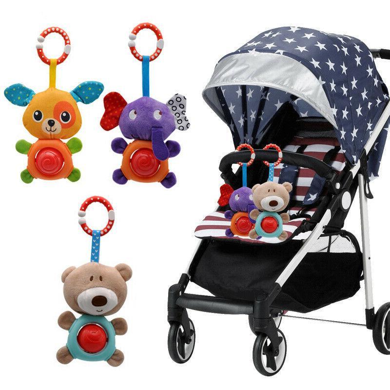 Newborn Baby Stroller Rattle Plush Mobile Toy Ring Crib