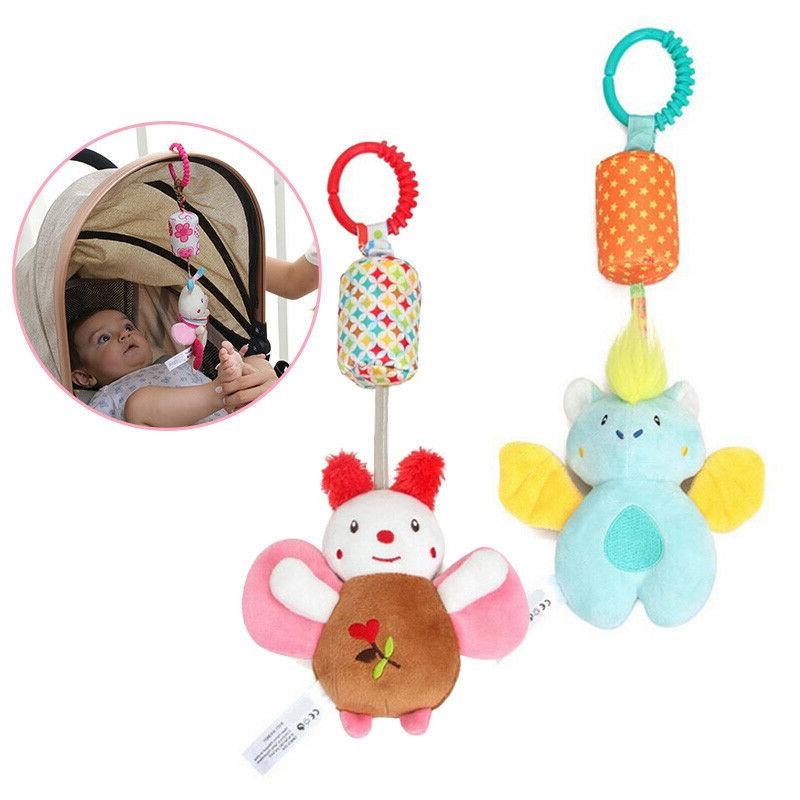 Newborn Rattle Plush Mobile Toy Kids Ring Crib