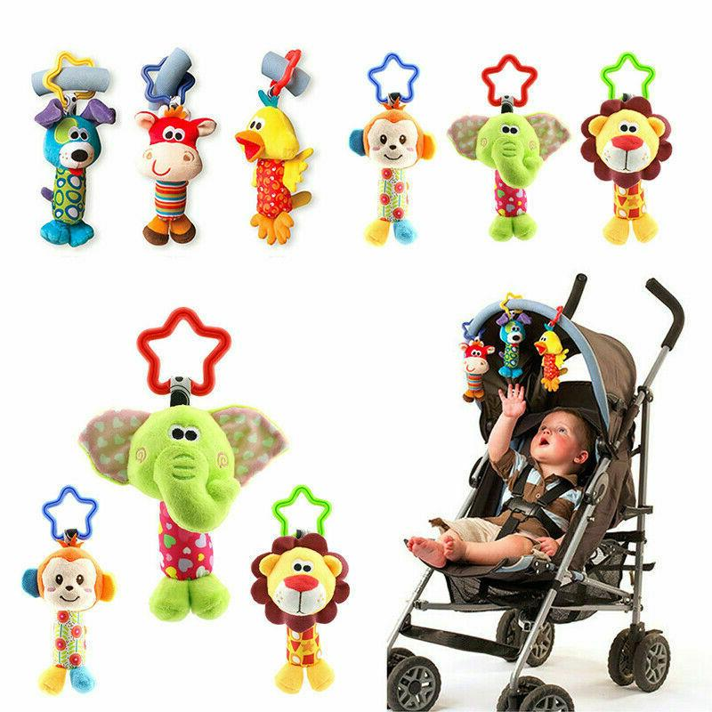 newborn baby bed stroller rattle soft plush