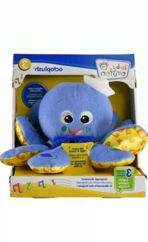 Baby Einstein OctoPlush Octopus Musical Developmental Soft Plush NEW