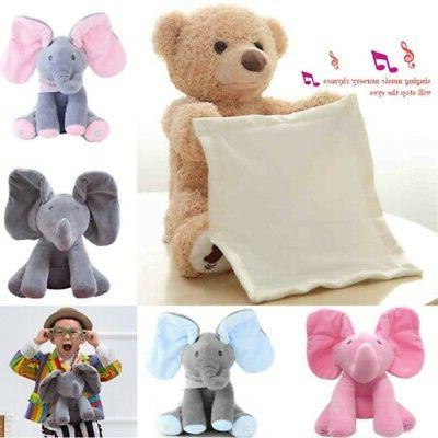 Peek-a-Boo Animated Singing Stuffed Doll For-Baby