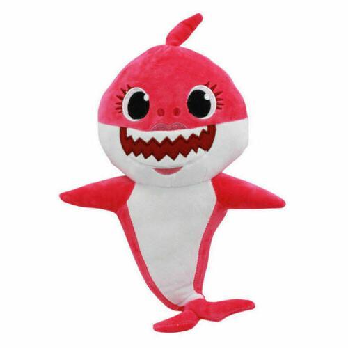 Pink Fong Animal Cartoon Stuffed Toys Fox Sharks Kids