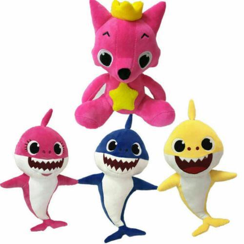 Pink Fong Animal Stuffed Toys Sharks Baby