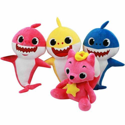 Pink Fong Animal Stuffed Toys Sharks Kids Baby Gift
