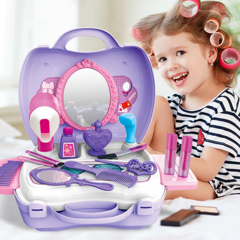 Funny Pretend Play Makeup Set Cosmetic Beauty Salon Toy Dres
