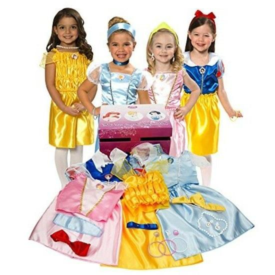 Disney Princess Royal Dress Up Trunk Exclusive Gift Set Girl