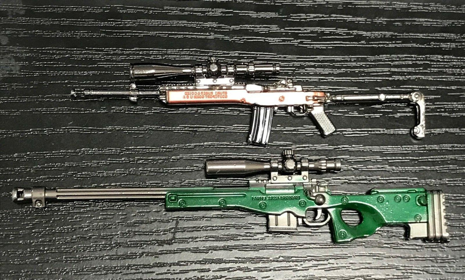 """PUBG-GH: 1/12 scale diecast metal toy guns  for 6"""" action fi"""