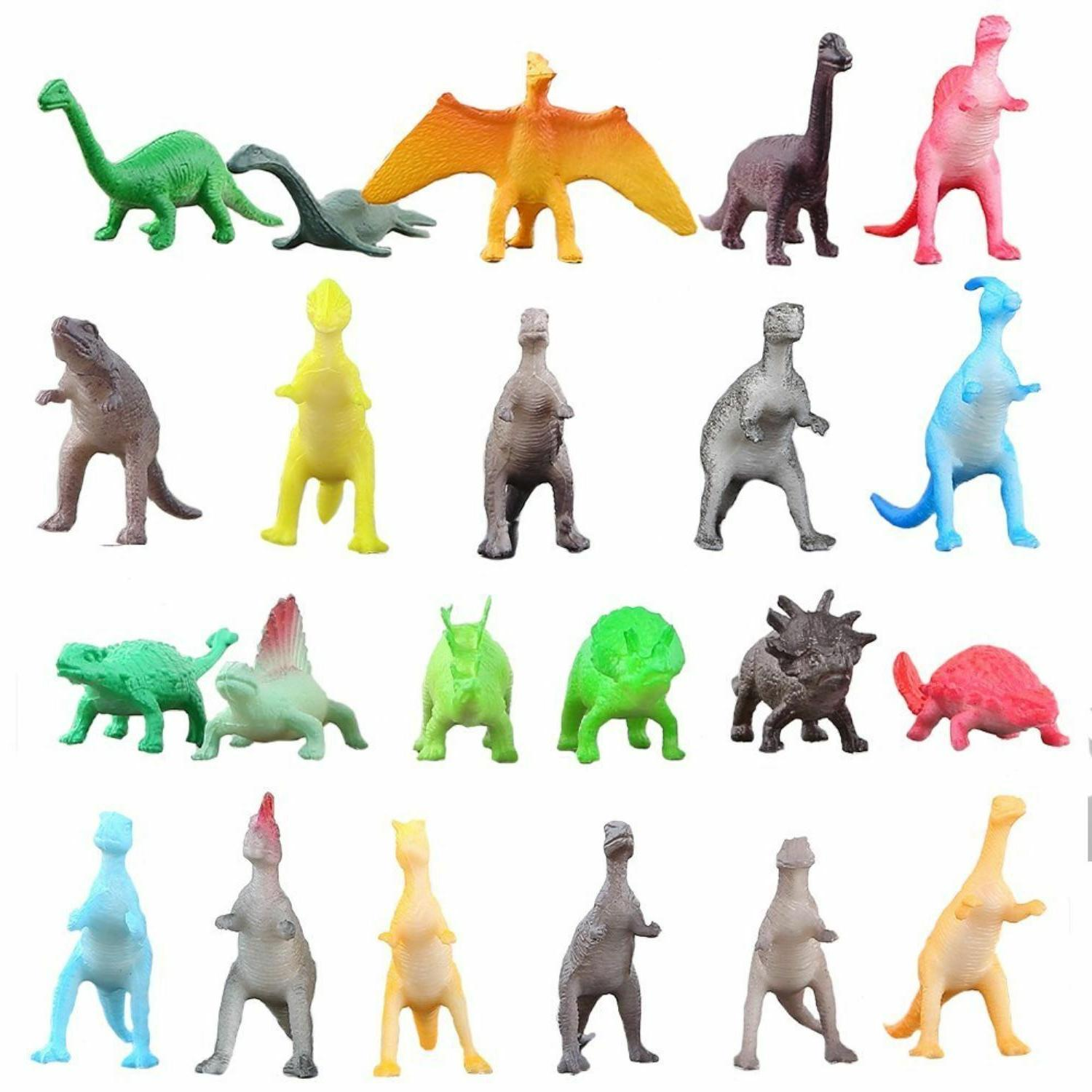 Realistic Lot Pack of 72 Jurassic Figures