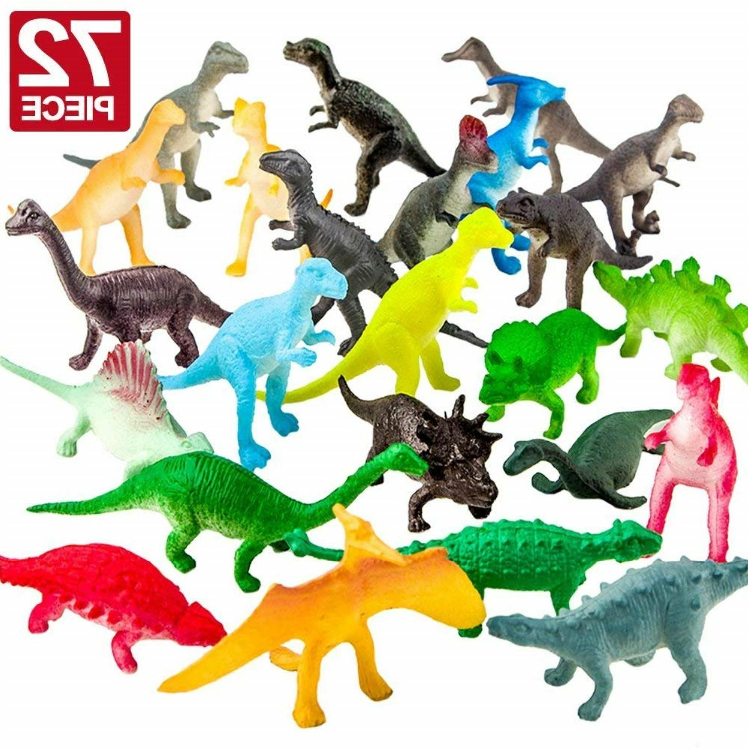 realistic dinosaur toys assorted lot pack of