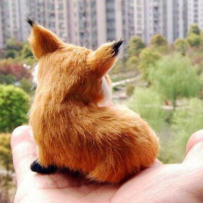 Realistic Stuffed Animal Plush Fox Home New