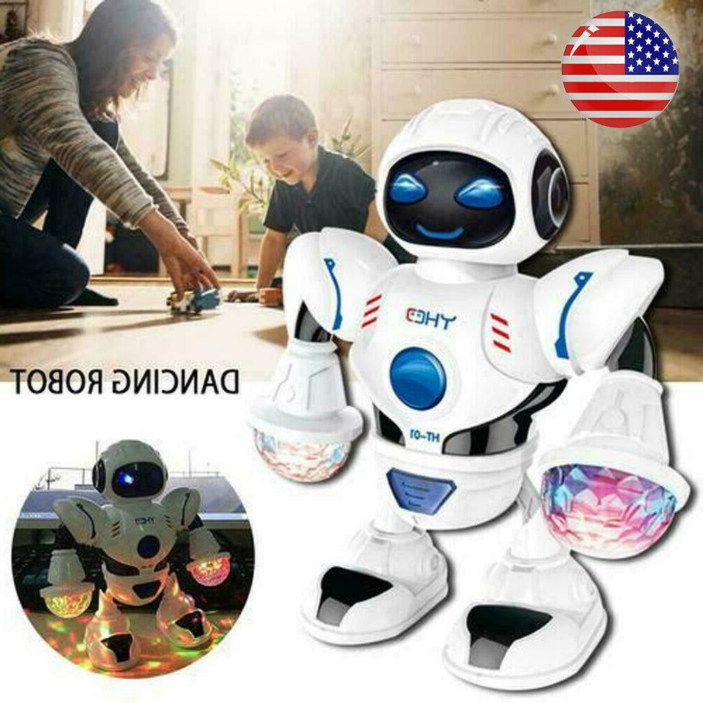 robot sing dancing walking fun lights sound
