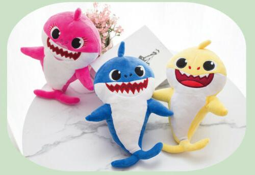 Shark Toys Soft Singing Music Song Cute Cartoon LED For Baby/Kid