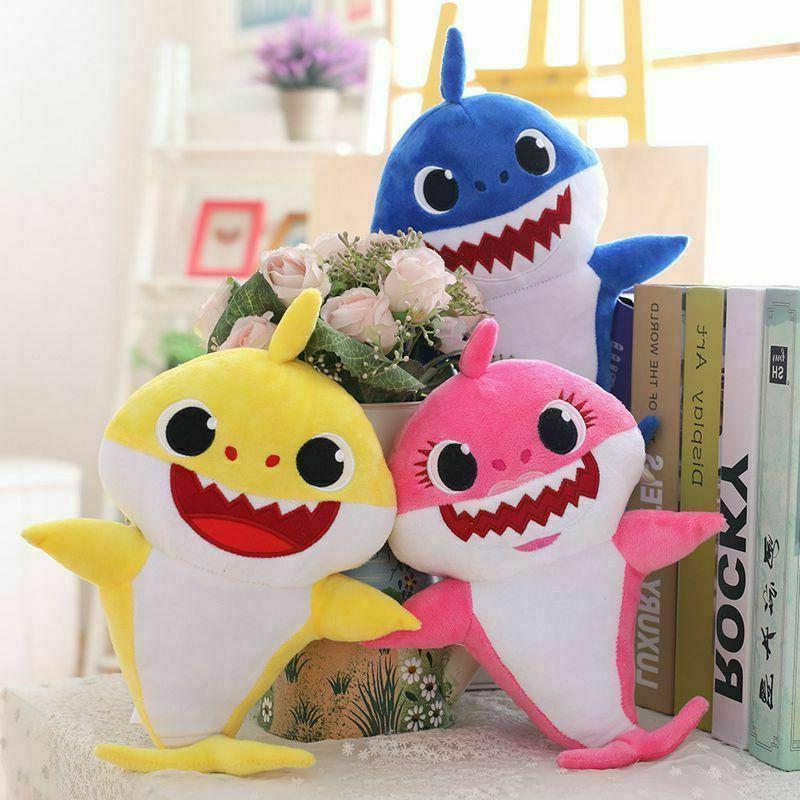 shark toys soft plush singing music english