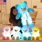 LED Flash Teddy Bear Stuffed Animals Plush Soft Hug Toy Baby