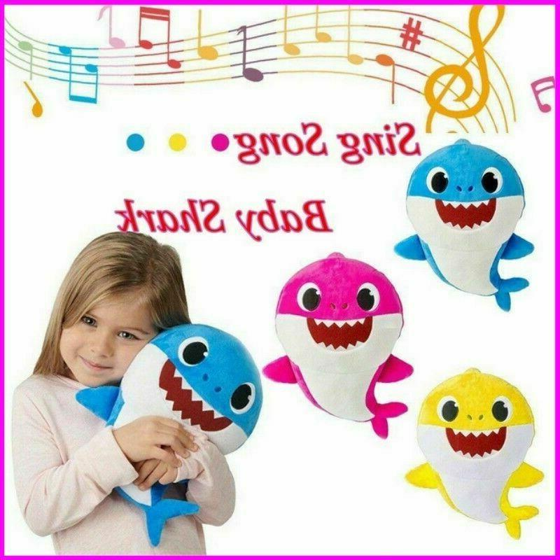 soft dolls baby shark toy with music