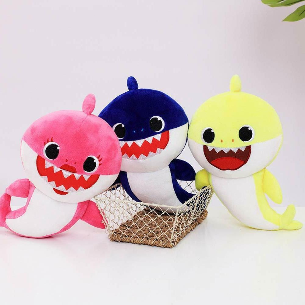 Soft Baby Shark toy with Music Cute Animal English Dol