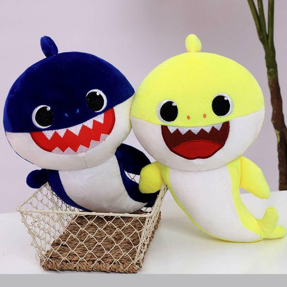 Soft Dolls Shark toy Sound Cute Animal Plush English Dol