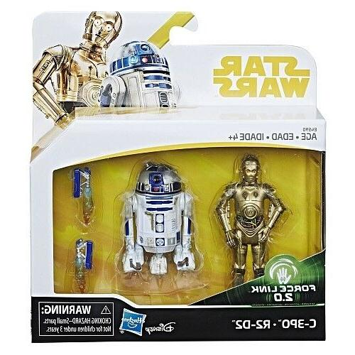 Star Wars Force Link 2.0 C3PO + R2-D2 Toys R Us Exclusive-Ne