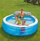 "Intex Swim Center Family Inflatable Lounge Pool, 88"" x 85"" x"