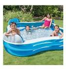 Intex Swim Center Family Lounge Inflatable Pool for Adults
