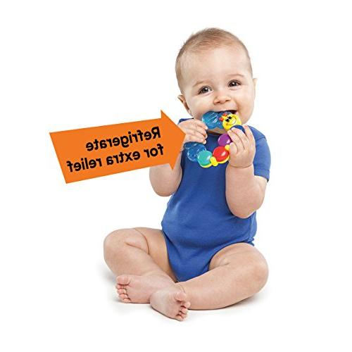 Baby Teether-pillar Toy,colors may vary