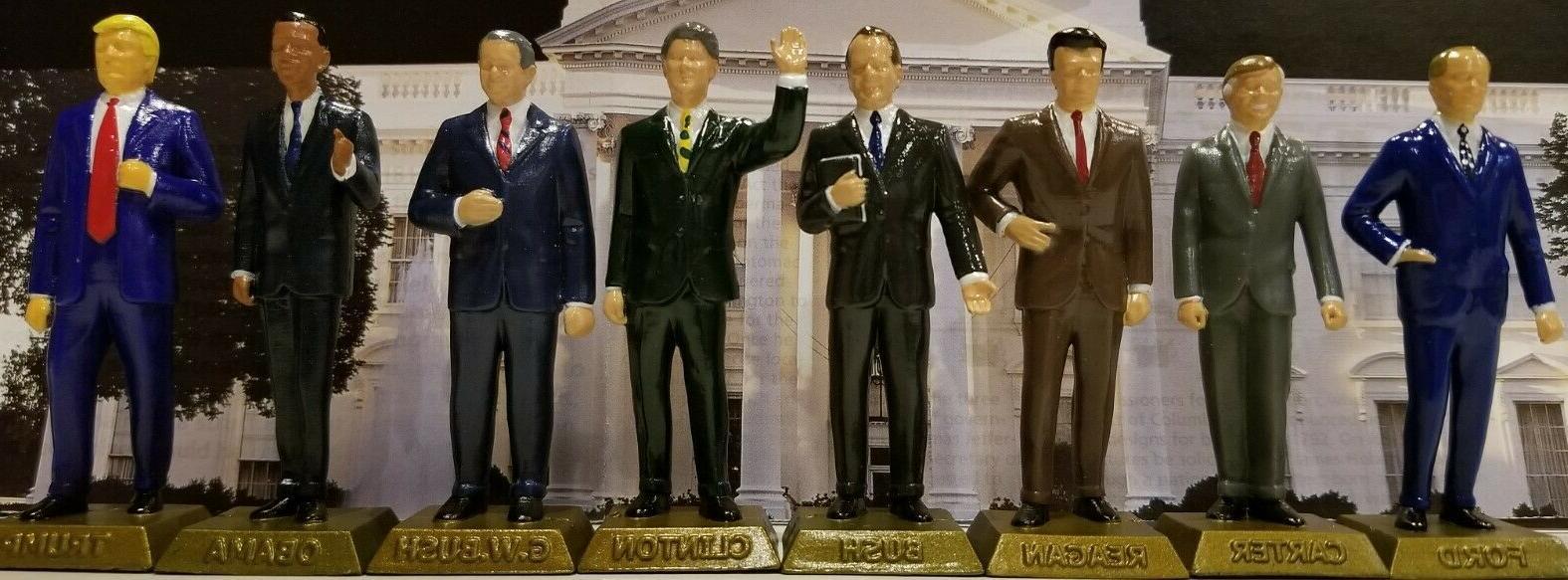 the eight u s president figurines never