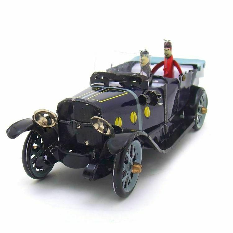 Tin Car Wind-up Toy Hand-Made Vintage Adult Collection