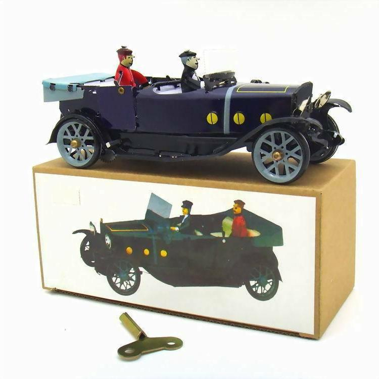 Tin Convertible Car Wind-up Toy Decoration Adult Collection
