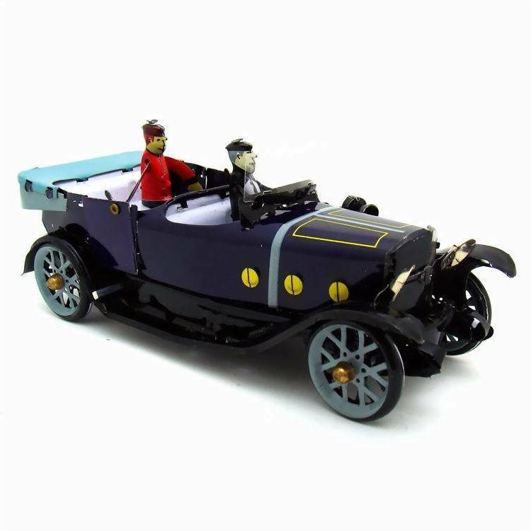 tin convertible car wind up toy hand