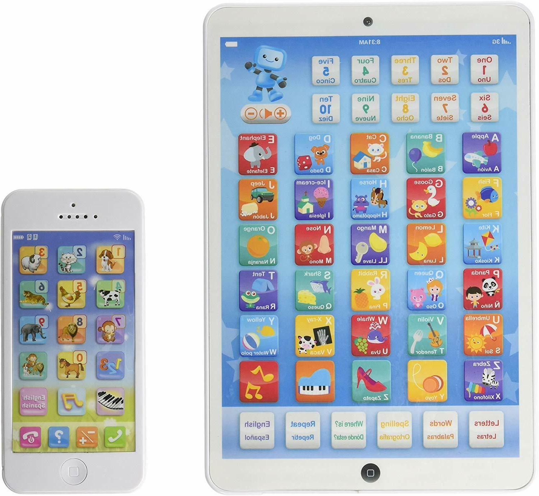 toddler educational tablet phone combo english spanish