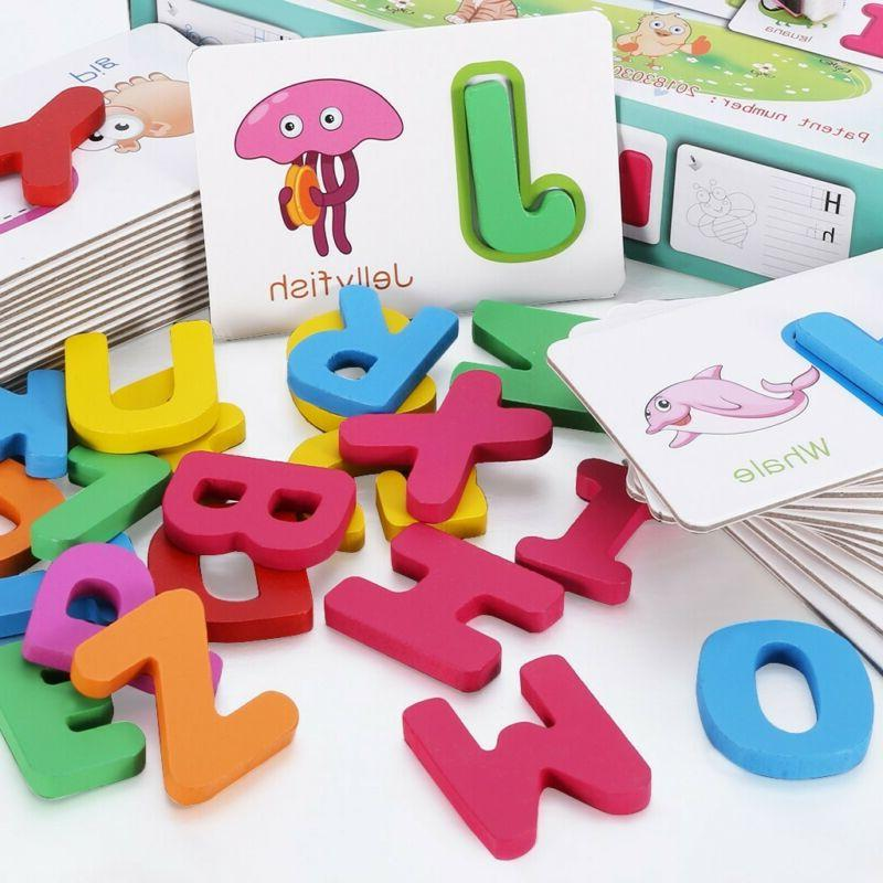 Toddlers Wooden ABC Animal Letters