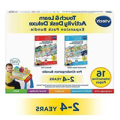 Touch Learn Activity Desk Deluxe 2-In-1 Preschool Bundle Exp