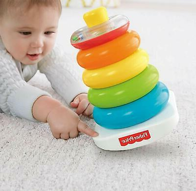 Toy Fisher-Price Rock Stack5 Rings, For Grasping And