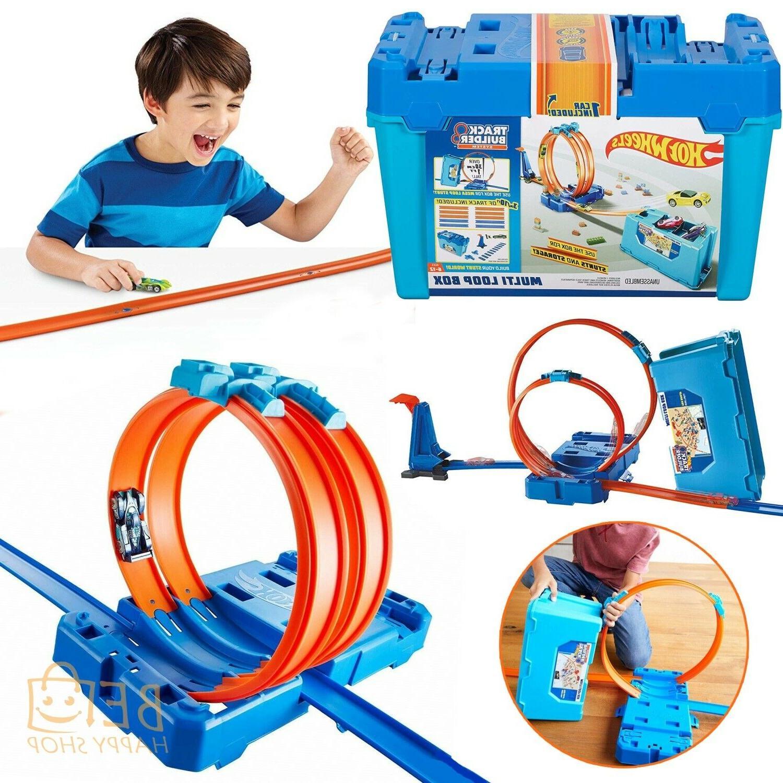 6e42505a6d4 Hot Wheels Track Builder Multi Loop Box Playset